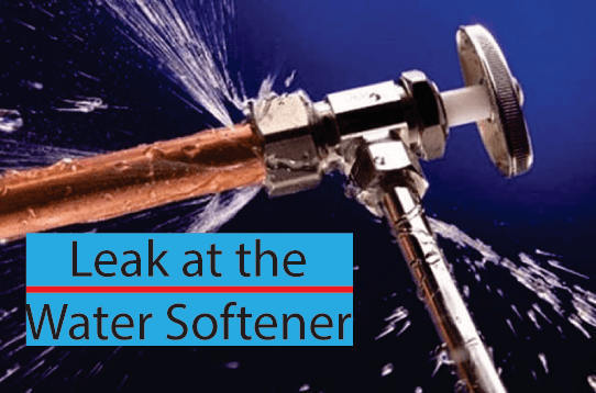 Leak at the water softener