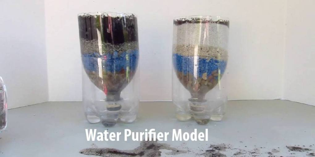 how to make water purifier model