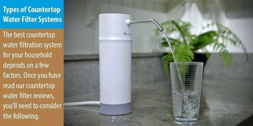 Types of Countertop Water Purifiers