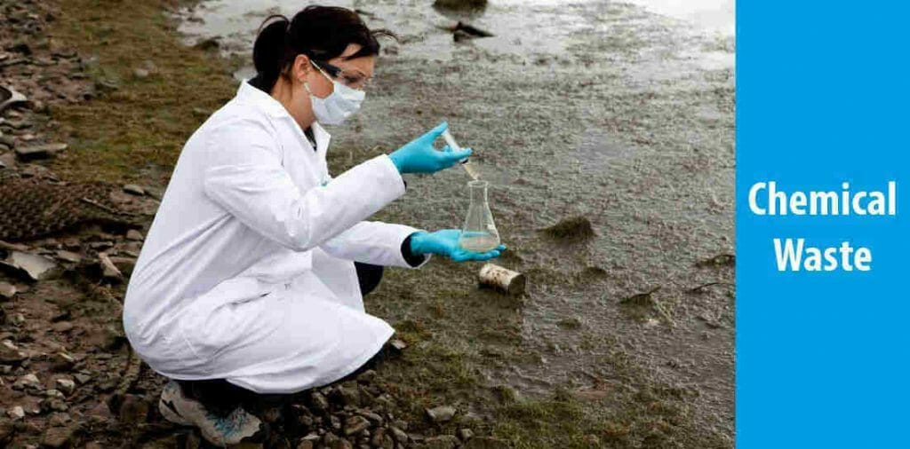 What are the causes of water pollution-Chemical waste