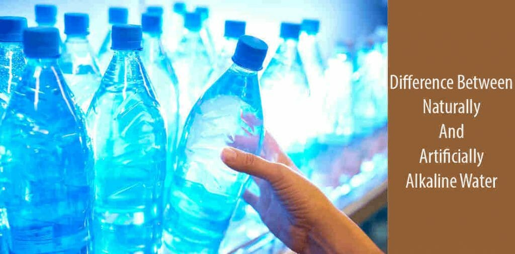 What is the difference between natural and artificial alkaline water